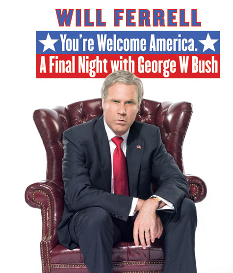 Will ferrell s you re welcome america a final night with - Will ferrell one man show ...