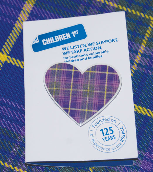tartan heart badge