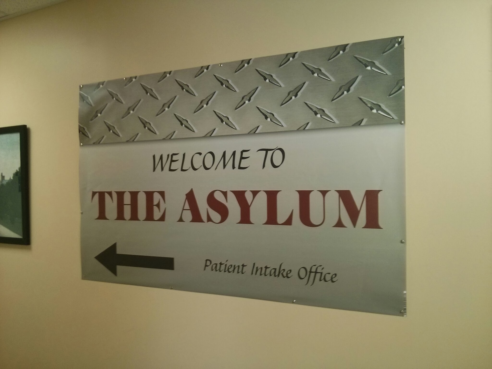 Image result for  welcome to the asylum  banner