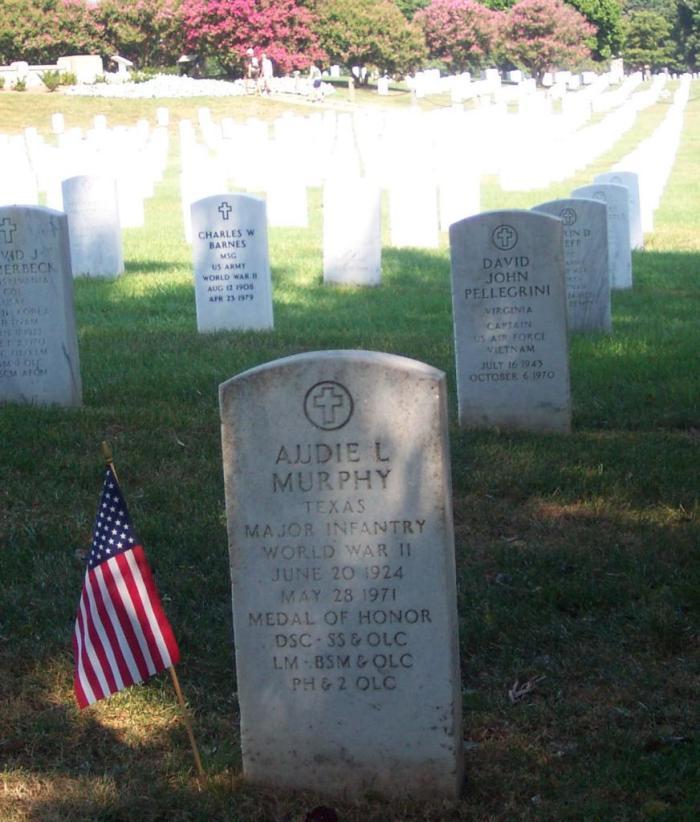 Audie Murphy's grave