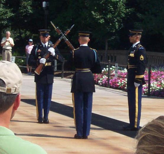 The Changing of the Guard at the Tomb of the Unknown Soldier