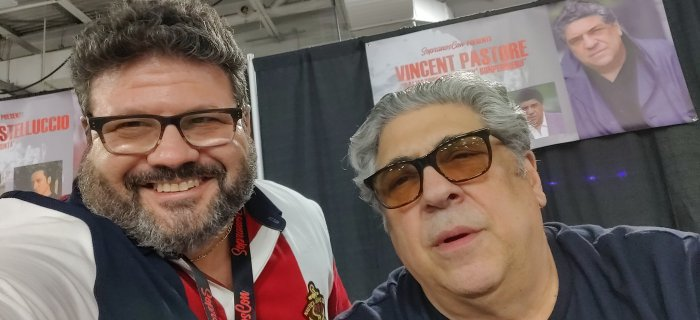 me and Vincent Pastore